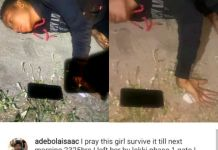 Video Of A Lady Looking Drugged Found Lying Helplessly By The Roadside In Lekki