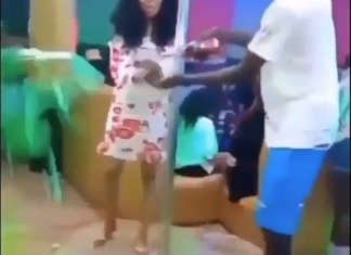 Video Of A Lady Washing Her Hands With Over Four Bottles Of Champagne In Her Birthday Party