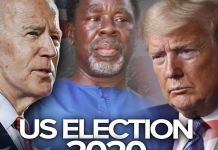Video Of Prophet TB Joshua's Prophecy On The US Election 2020