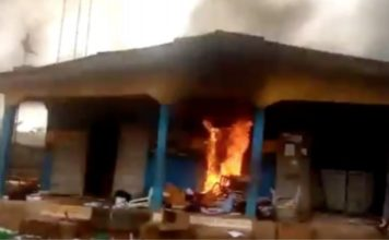 Irate Youths Burn Police Station In Anambra Over Shooting Of Motorcycle Rider