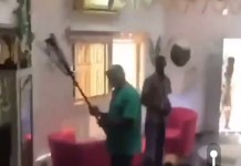Video Of Angry Landlord Destroying Tenant's Salon Over Unpaid Rent In Lekki