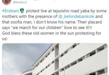 Video Of Fresh #EndSARS Protest In Lagos Led By Kehinde Bankole