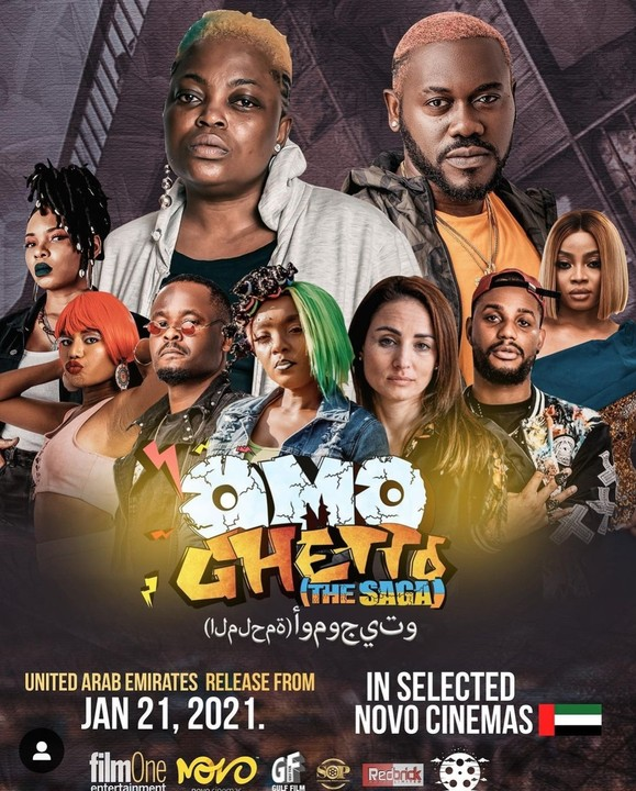 Omo Ghetto breaks the record of being the first Nigerian movie to be released in Dubai cinemas UAE
