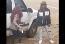 Video Of A Woman Who Tried To Stab Her Boyfriend With Two Knives And Ended Up Beaten With A Jacket