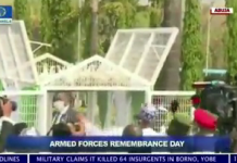 Video Of Doves AKA White Pigeons Released By Buhari Refusing To Fly At Armed Forces Remembrance