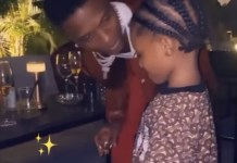 Video Of Wizkid's Son, Zion, Desiring To Sip From His Alcoholic Wine