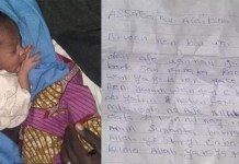A Mother Dumped Her Newborn Baby With A Written Note Along A Road In Katsina