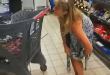 Photos Of A Lady Who Removed Her Pant And Used It As Face Mask In A South African Supermarket