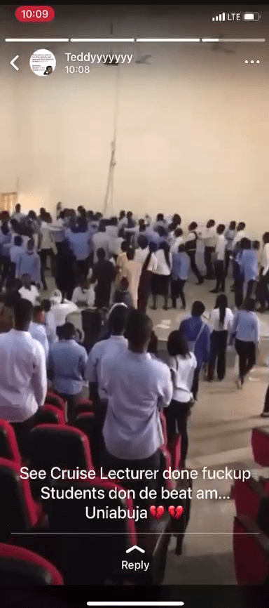 Video Of University Of Abuja Students Beating Lecturer After Exams