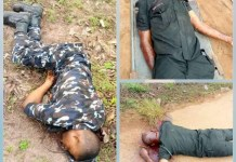 Disturbing Photos Of 3 Policemen Shot Dead At Abia Police Checkpoint