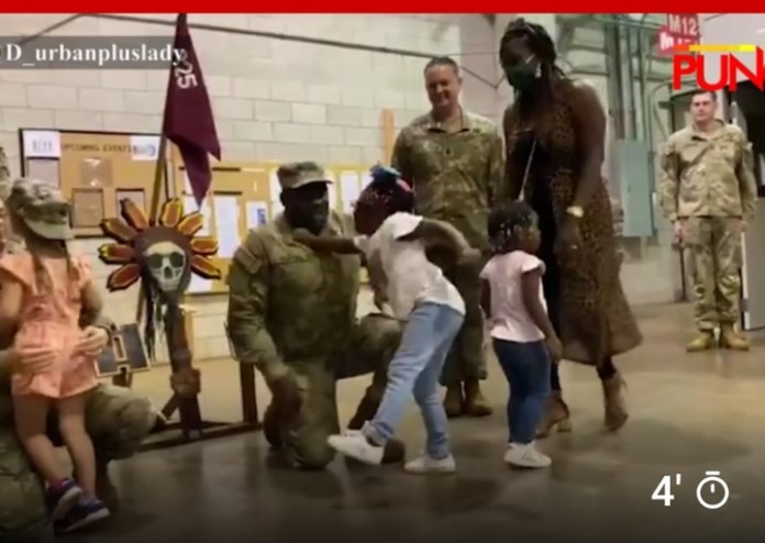 Video Of A Girl That Punched Her Nigerian Dad At US Army Promotion Ceremony