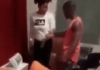 """Video Of A Nigerian man clashing with his girlfriend after he found out that she saved another man's number on her phone he bought with """"my love"""" and his with 'big head"""