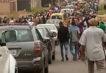 Video Of Mass Protest In Enugu As Missing Rev Fr Mbaka Taking Away By Gunmen