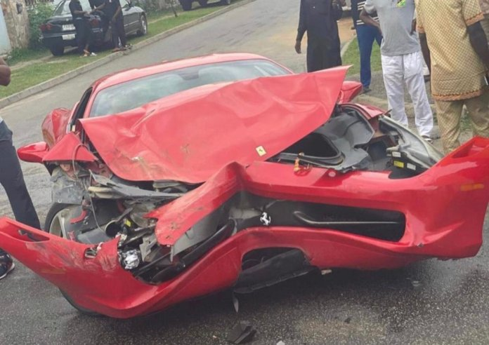 Car Dealer Crashes Customer's Ferrari Just Before It Was Purchased In Abuja (Video)