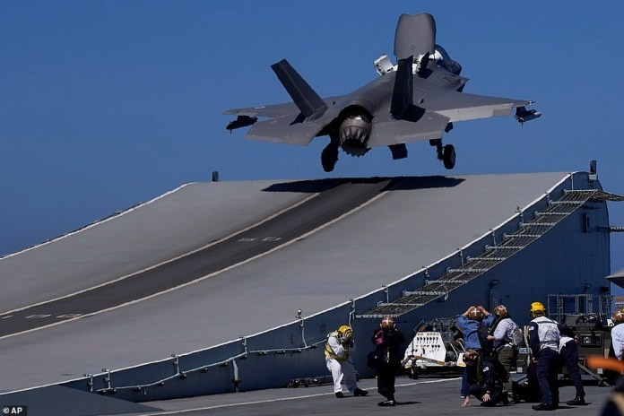 Photos Of US Warplanes Flying First Combat Missions Off Foreign Aircraft Carrier Since WWII