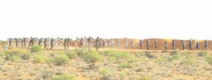 Video Of 18 Convicted Al-shabab Militants Executed In Northeast Somalia