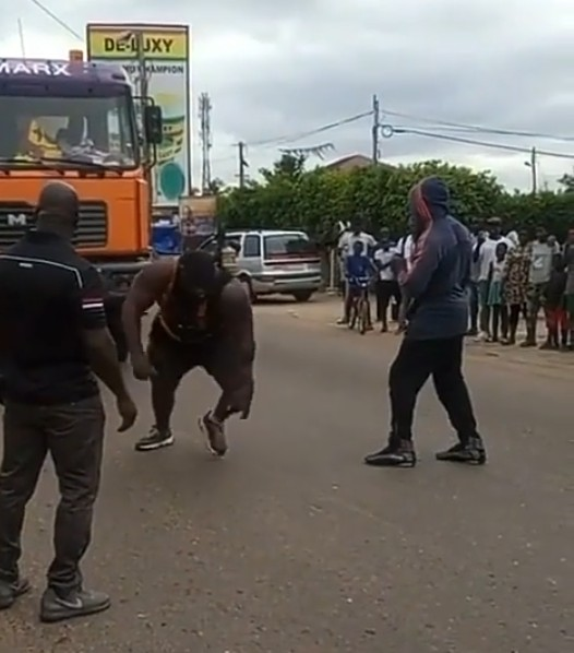 Video Of A Man Pulling A Trailer Loaded With Rice In Ghana