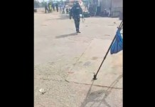 Video Of Police Officer Threatening To Shoot Journalists Covering June 12 Protest In Lagos - I GO FIRE YOU