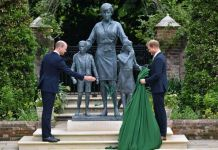 Photos Of Royal Brothers Prince Harry And Prince William Unveiling Princess Diana's Statue