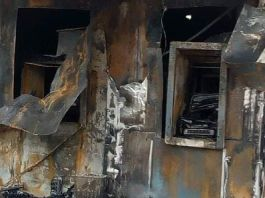 Photos Of Access Bank ATM Set Ablaze In Akwa Ibom State By Unknown Gunmen