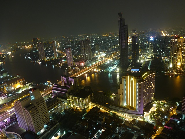 The Bangkok skyline