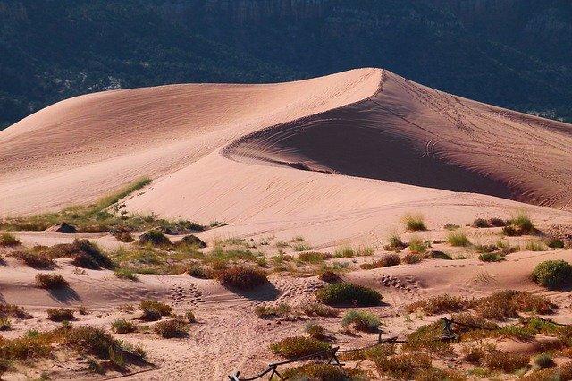 Sand dunes in Idaho, USA