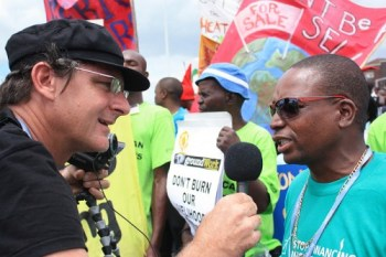 interview during global day of action