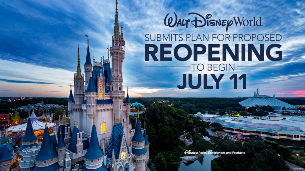 Plans Unveiled for the Phased Reopening of Walt Disney World Resort Theme Parks