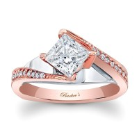 Barkev's Designer Diamond Engagement Ring in 14KT Rose