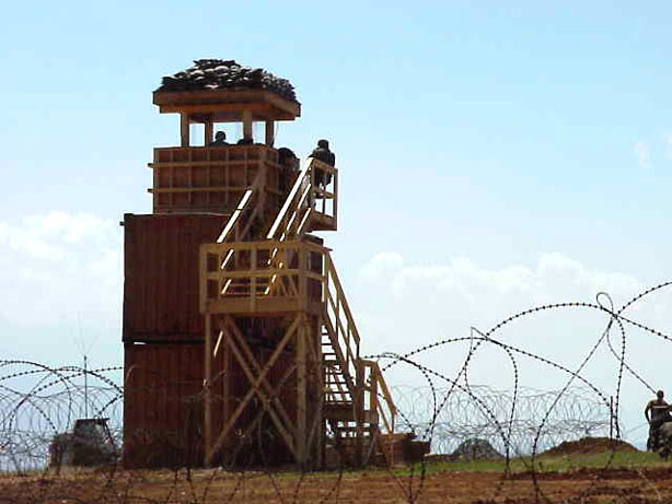 Camp Bondsteel in Kosovo, watchtower