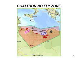 Graphic of the Coalition No Fly Zone in Libya as part of Operation Odyssey Dawn enforcing UN Security Resolution 1973