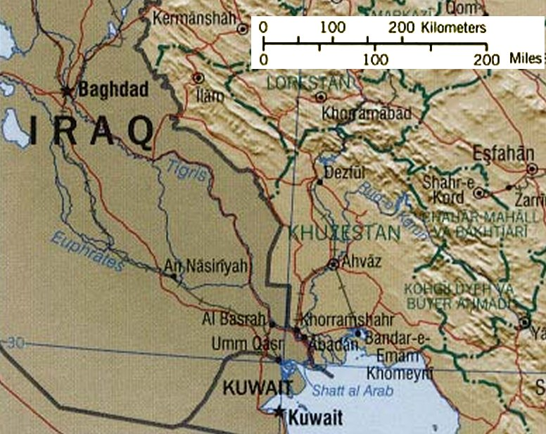 Zagros Mountains. American heavy forces could swiftly occupy