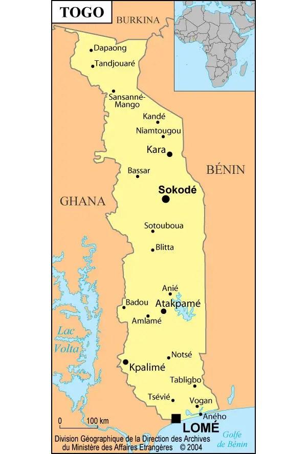 Togo Maps