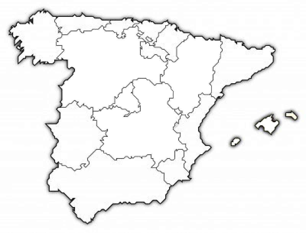 spain map drawing