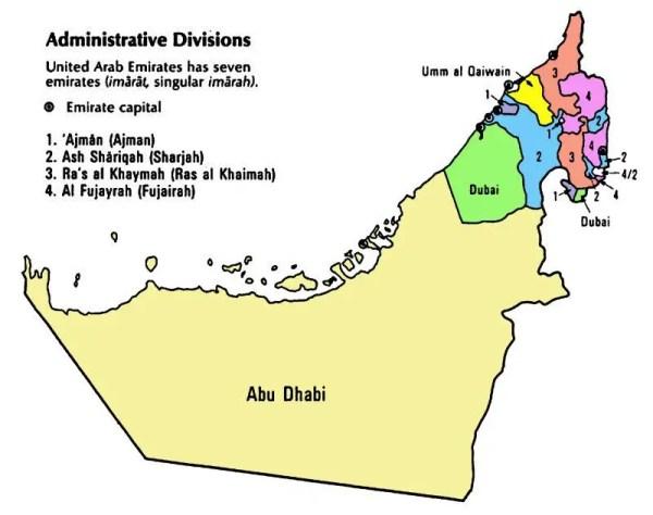 United Arab Emirates Maps
