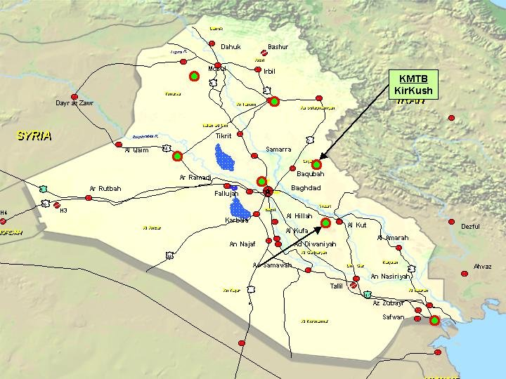 U S Military Bases Iraq Map