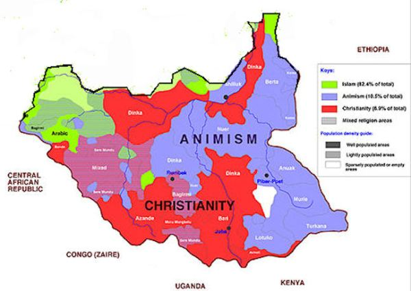 South Sudan Maps
