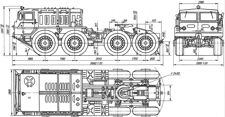Maz 537 Hurricane Truck Tractor