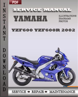 Yamaha YZF600 YZF600R 2002 Service Manual Download