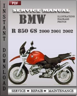 BMW R 850 GS 2000 2001 2002 manual