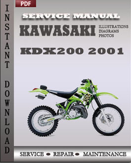 Kawasaki KDX200 2001 manual