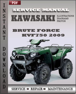 Kawasaki KVF750 Brute Force 2009 manual