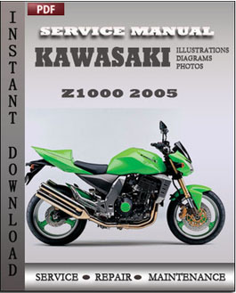 Kawasaki Z1000 2005 manual