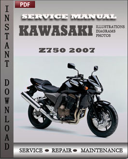Kawasaki Z750 2007 manual