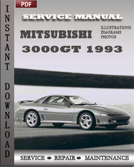Mitsubishi 3000GT 1993 manual