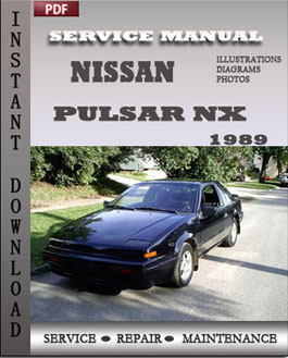 nissan pulsar nx 1989 download pdf service repair manual factory rh factoryservicemanual wordpress com 1989 Nissan Pulsar with T Top Nissan Pulsar