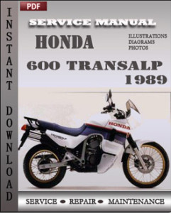 honda 600 transalp 1989 service repair manual repair