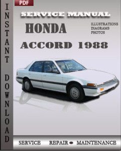 honda accord 1988 service manual download repair service manual pdf. Black Bedroom Furniture Sets. Home Design Ideas