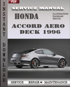 honda accord aero deck 1996 service repair manual repair service manual pdf. Black Bedroom Furniture Sets. Home Design Ideas