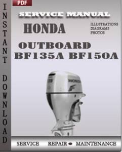 honda bf 150 wiring diagram honda outboard bf135a bf150a service manual download ... #1